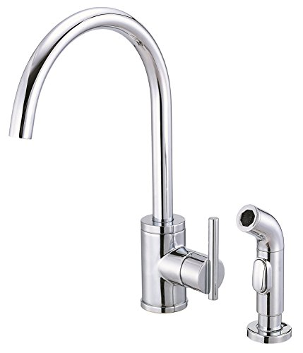 - Danze D401058 Parma Single Handle Kitchen Faucet with Side Spray, Chrome