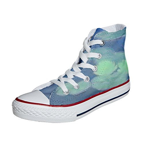 Star All scarpe Scarpe Personalizzate Bianchi Converse Fiori Artigianali 7a8nA