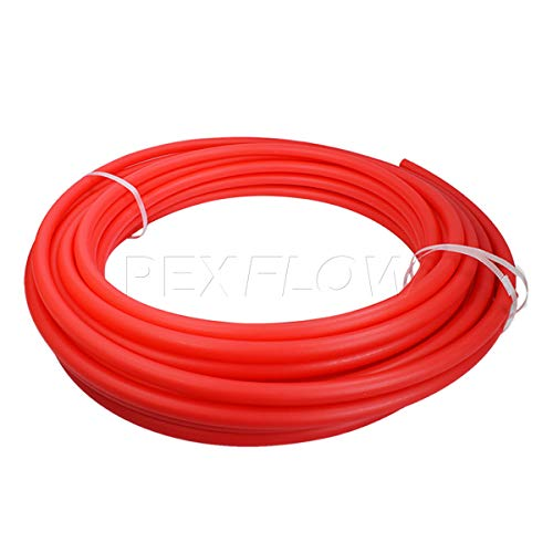 Pexflow PFR-R34300 Oxygen Barrier PEX Tubing for Hydronic Radiant Floor Heating Systems, 3/4 Inch x 300 Feet, Red