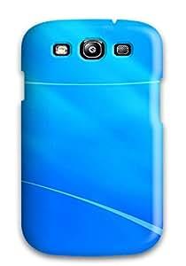 High Grade DeirdreAmaya Flexible Tpu Case For Galaxy S3 - Blue Curves