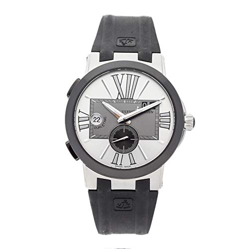 Ulysse Nardin Executive Dual Time Mechanical (Automatic) Silver Dial Mens Watch 243-00-3/421 (Certified Pre-Owned)