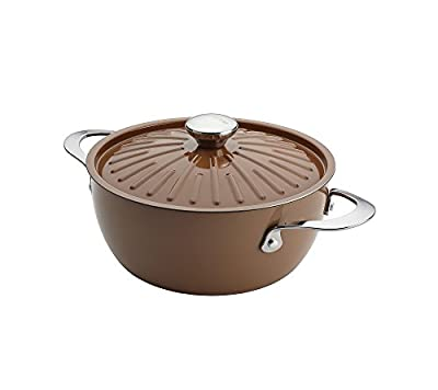 Rachael Ray Cucina Hard Porcelain Enamel Nonstick Covered Round Casserole