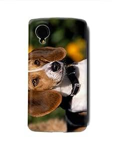 BEAGLE DOG W2 Google Nexus 5 LG Hardshell Full Back Case Cover