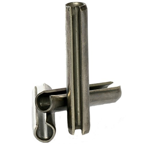 Bolt Base (2mm) M2 x 10 Stainless Steel Slotted Spring Tension Pins Sellock Roll Pins DIN 1481 - 20 Pack