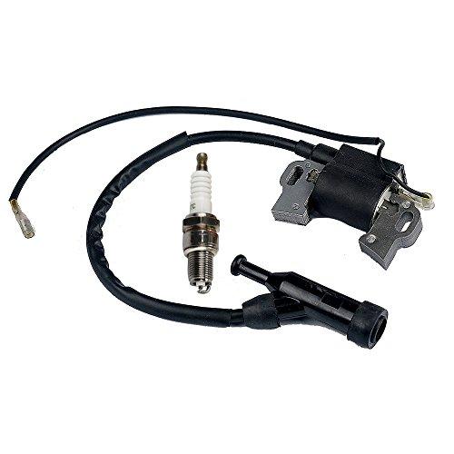 Panari Ignition Coil + Spark Plug for Generac GP5000 GP5500 GP6000E GP6500 GP6500E GP7500 GP7500E GP8000E XT8000E H5500 H6500 H7500 HW5500E HW6500 389cc 5KW 5.5KW 6KW 6.5KW Portable Generator by Panari