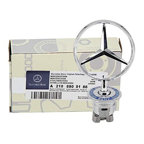 Ruanye For Mercedes Benz Hood Star Emblem W124 W210 E-Class W202 W203 C Class W204 C Class W220 S Class 1994-2007;A 221 880 00 86;all S serie,E serie,C serie,W series ()