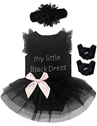 3 Pieces Baby Girls' Lace Tutu Dress Bodysuit With Headband and Foot Jewelry