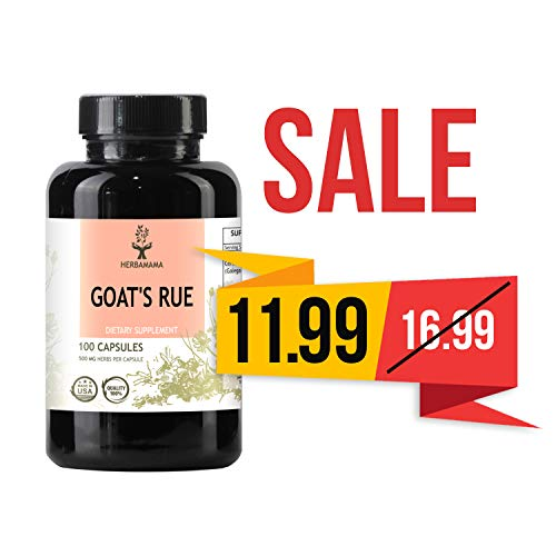 - Goat's Rue 100 Capsules 500 mg | Lactation Supplement | Supports Mammary Tissue Development | Breast Feeding Capsules | Gluten Free | Non-GMO