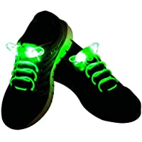 LED Light Up Shoelaces Waterproof Shoestring with 3 Modes Flashing- 5 Colors White Red Blue Yellow Green Pink Disco Flash Lighting Night for Party Hip-hop Dancing Cycling Shoe Lace
