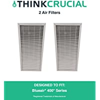 2 Replacements for Deluxe Blueair 400 Air Purifier Filter Fits ALL 400 Series Air Purifiers, by Think Crucial