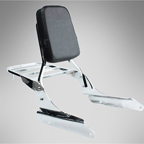 Vt600 Shadow - Chrome Backrest Sissy Bar With Luggage Rack Backrest Pad For Honda Shadow VT600 VLX600 1999-2008