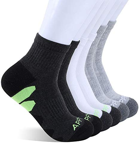 Running Socks for Men Low Cut Athletic Socks Crew Socks, Men Size 8-11, Pack of 6