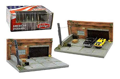 (My Old Garage Resin Diorama for 1/64 Scale Models by American Diorama 38430)