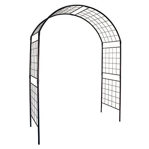 (Achla Designs ARB-14 0000 Arbor/Garden Decor-Supports Climbing Plants-Wrought-Iron, Ii, Black)