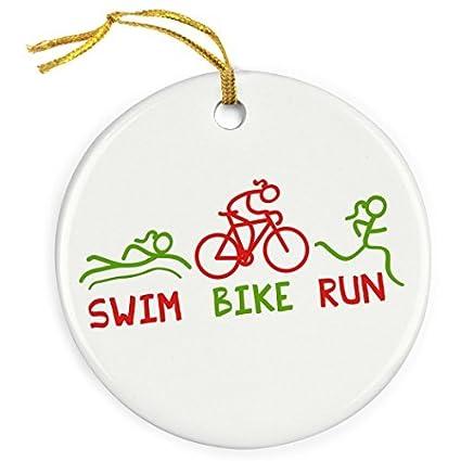 Image Unavailable - Amazon.com: Restore2a Swim Bike Run Girls Christmas Ornament