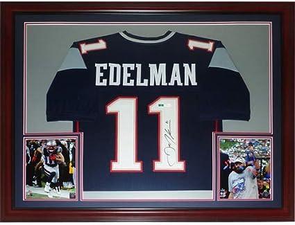 Julian Edelman Autographed New England Patriots (Blue #11) Deluxe ...