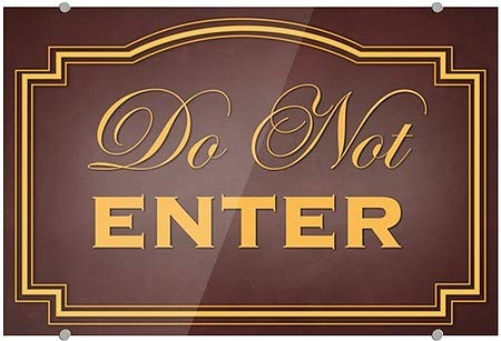 Classic Brown Premium Brushed Aluminum Sign CGSignLab 2468297/_5mbsw/_36x24/_None 36x24 Do Not Enter