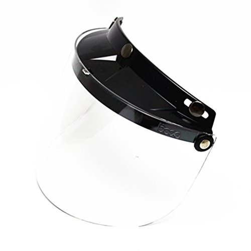 E-Bro 3 Snap Flip Up Visor Face Shield Lens for Open Face Motorcycle Helmets (Clear)