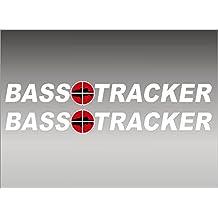"BASS Tracker Boats retro Logo Decal PAIR 5x42"""