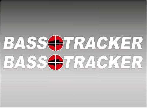 BASS Tracker Boats retro Logo Decal PAIR 5x42