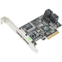 Syba 4 Port SATA II PCI-e x4 Card Marvell Chipset with optioanl eSATA Ports Components Other SY-PEX40048