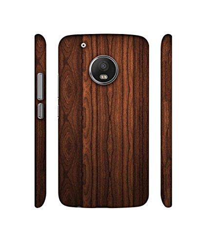 Casotec Wooden Texture Design 3D Printed Hard Back Case Cover for Motorola Moto G5 Plus