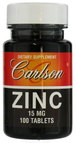 Carlson Labs Zinc, 15mg, 100 Tablets