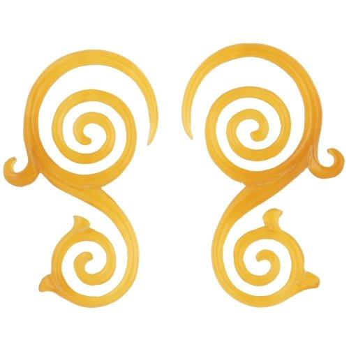 Amazon.com: Par de luz cuerno espiral Vines: 6 g: Jewelry