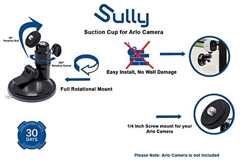 2pcs) Suction Mount for Arlo HD Pro GO Zmodo Indoor Outdoor