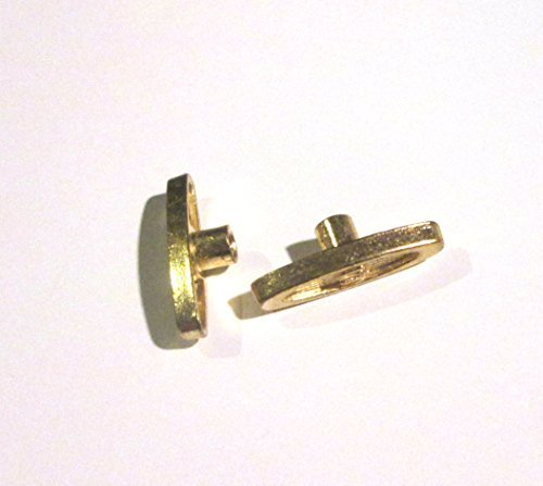 Replacement Winding Key for Music Box Movement - Two Keys Short 1/4 Inch Shaft Length - Good for Snow Globes