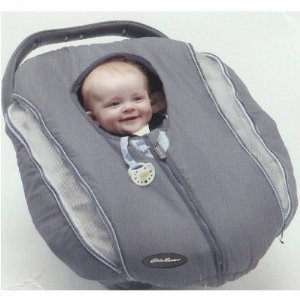 a8d4ff29896 Amazon.com   Eddie Bauer Vented Carrier Cover for Carseat   Child Carrier  Accessories   Baby