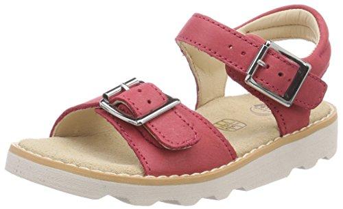 Clarks Mädchen Crown Bloom Riemchensandalen Pink (Pink Leather)