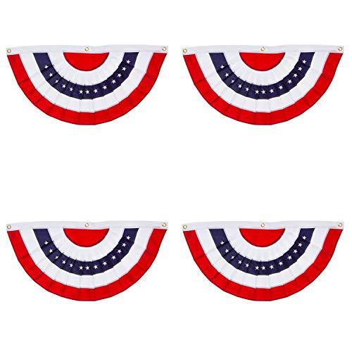 Evergreen Flag Patriotic Applique Bunting (3 x 1.5, Set of 4)