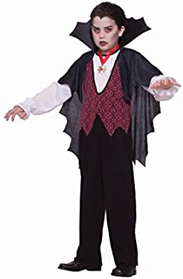 Vampire Kit Medallion Bow Tie Teeth Dress Up Halloween Costume Accessory Set