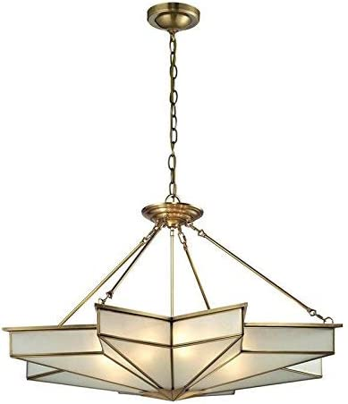 ELK Lighting 22013 8 Decostar Collection 8 Light Pendant, 23 x 43 x 43 , Brushed Brass