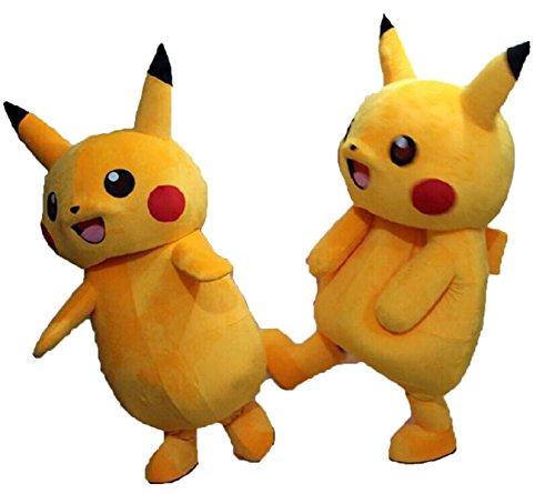 Alkem Pikachu Mascot Pokemon Go Cartoon Costume Adult Cosplay Outfit (Mascot Costumes Japan)