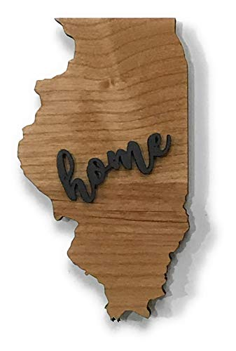 Illinois State Magnet Keepsake Decoration Holiday Gift Home Party Favor ()