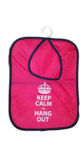 UPC 639476449855, Keep Calm and Hang Out Clothespin Holder Bag Red/pink 11.8 x 15 inch