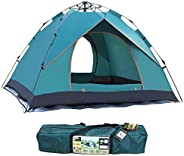 Active Tent Four Season 3-4 Person with Waterproof Rip-Stop, Full Rainfly, Aluminum Poles Adult Tent for All Y