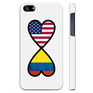 SudysAccessories American Colombian Forever Colombia Flag Infinity Forever iPhone 5 Case iPhone 5S Case - SoftShell Full Plastic Direct Printed Graphic Case