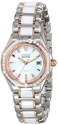 Citizen Women's EW2196-52D The Signature Collection Eco-Drive Octavia Ceramic Diamond Watch
