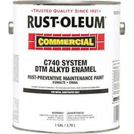 - Rust-Oleum C740 <400 Voc Dtm Alkyd Enam Rust-Prev. Maint. Paint, Gloss Navy Gray Gallon Can - Lot of 2