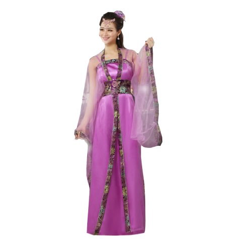 Bysun Women Ancient Royal Dress Performance Cosplay PurpleFS ()