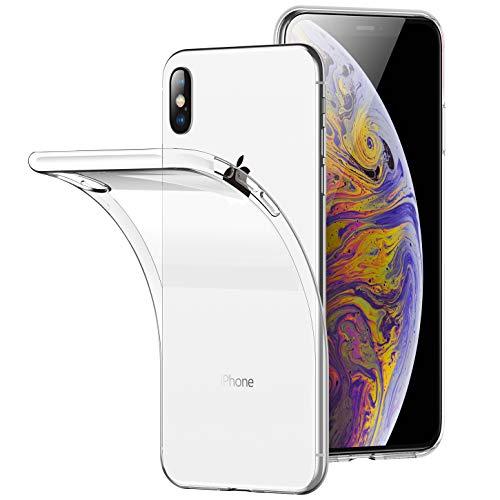 RANVOO iPhone Xs Max Case, Clear Ultra Thin Slim Soft Protective Premium TPU Case Transparent Bumper Case Apple iPhone Xs Max 6.5