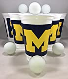 University of Michigan Wolverines Beer Pong Set for Game Day, Tailgaiting, Football, Basketball Parties