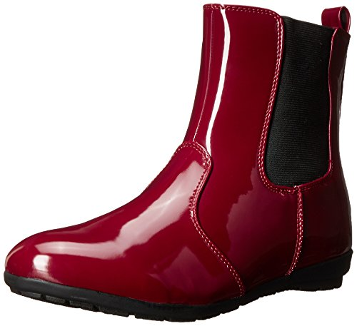 Boot Shoes Winter Bumble Red Women's Patent Wanted HfwZIq