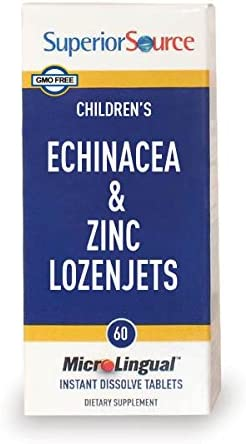Superior Source Child Formula Echinacea and Zinc Lozenjets Nutritional Supplements, 60 Count
