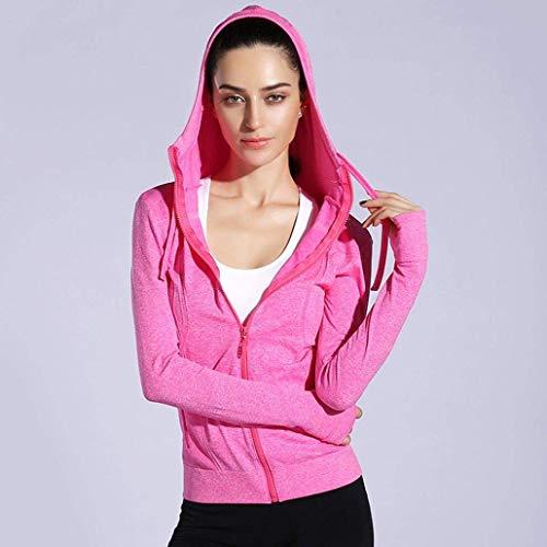 Cappotto Cappuccio Mantello Sweat Con Cerniera Puro Colore Autunno Coulisse Fit Casual Lunga Corto Especial Estilo Tasche Donna Pink Slim Laterali Manica Giacca CXqHxRdww
