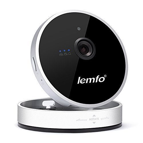 LEMFO Intelligent Network Home Security IP Camera, Wireless/Wired Plug/Play Pan/Tilt 720P HD Night Vision Two-Way Audio (LM-C100E)