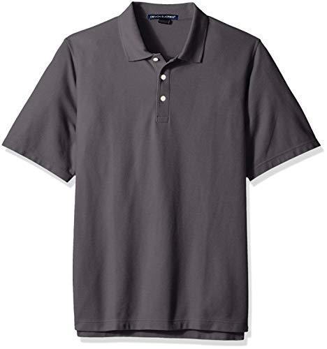 (D & Jones Men's Crown Collection Striped Shirt, GRAPHITE 3XL)